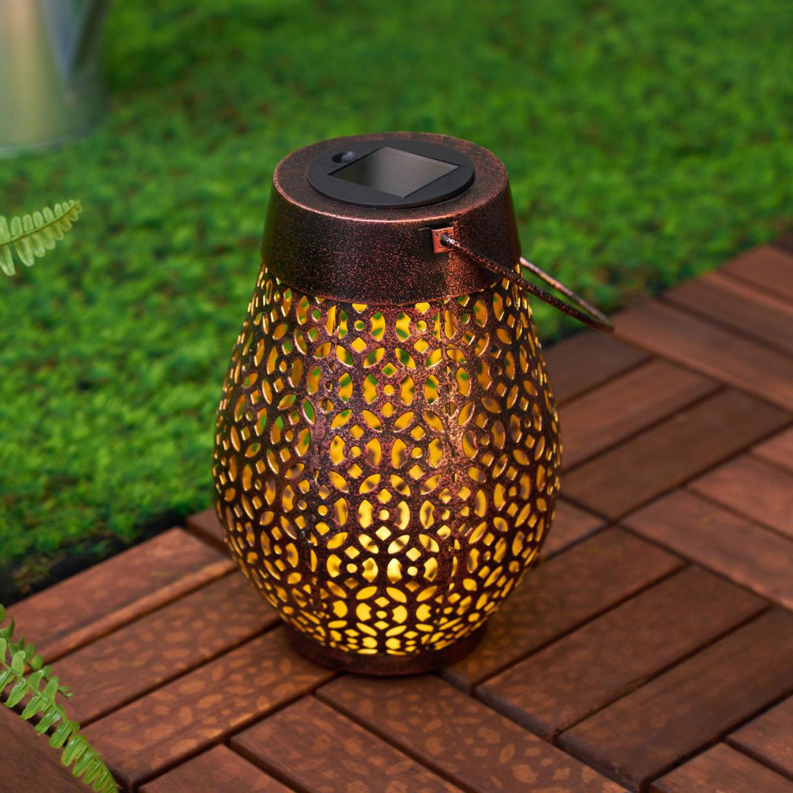 Pauleen Sunshine Wish LED-solcellslykta i koppar