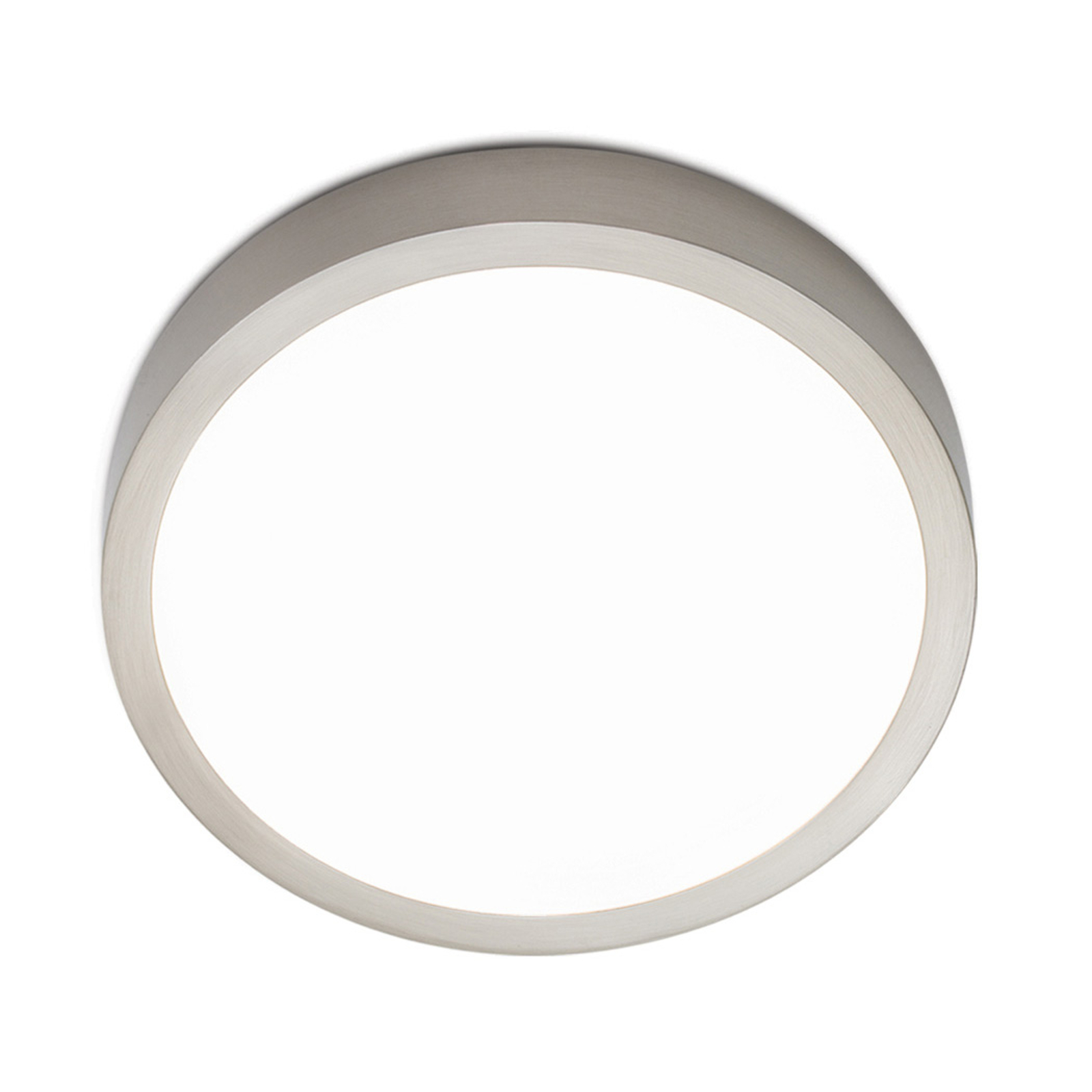 LED plafondlamp Bully, satijn 14 cm
