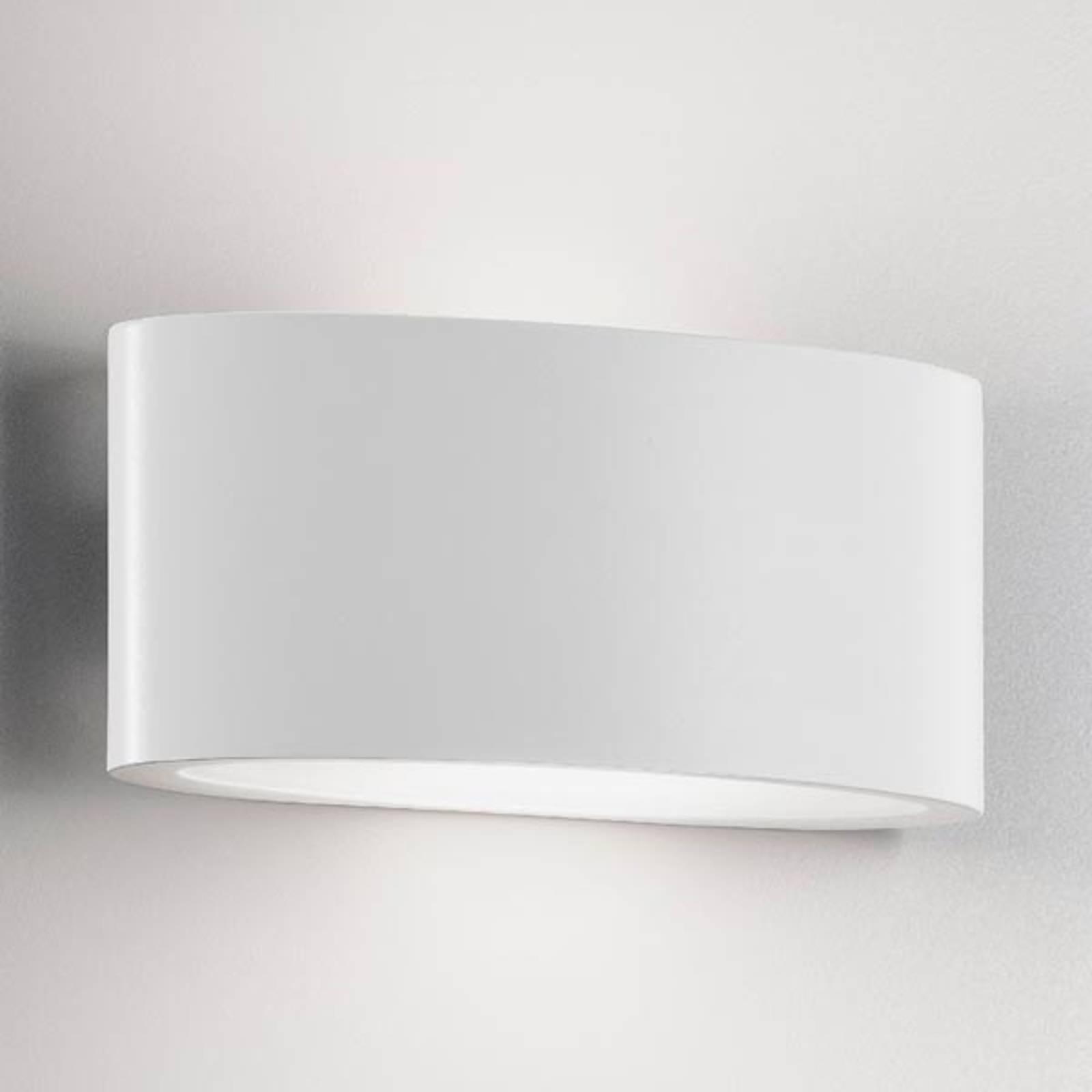 LED buitenwandlamp Ovalino in wit