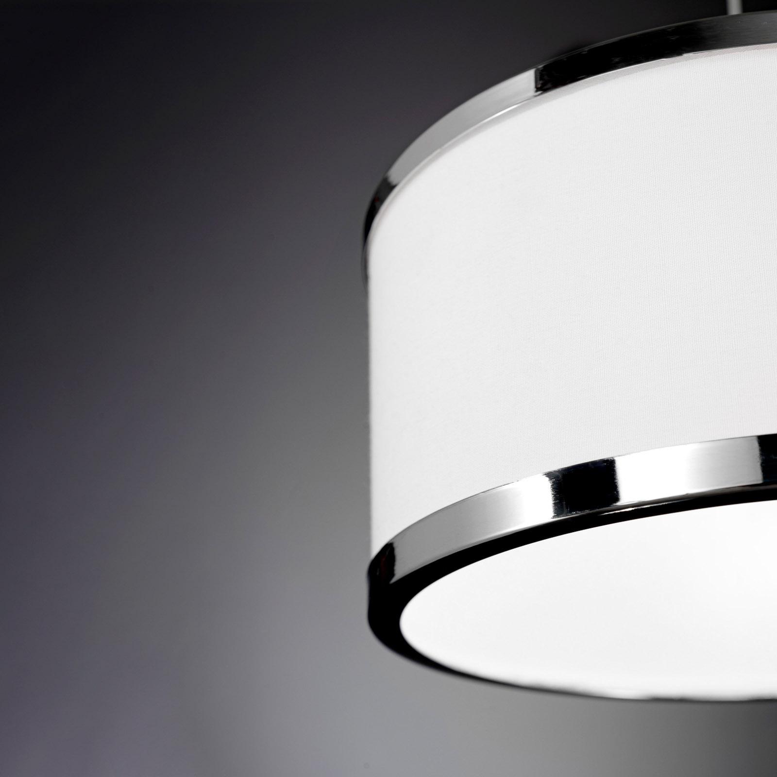 Lampa wisząca Chiara, 1-pkt., chromowa/biała