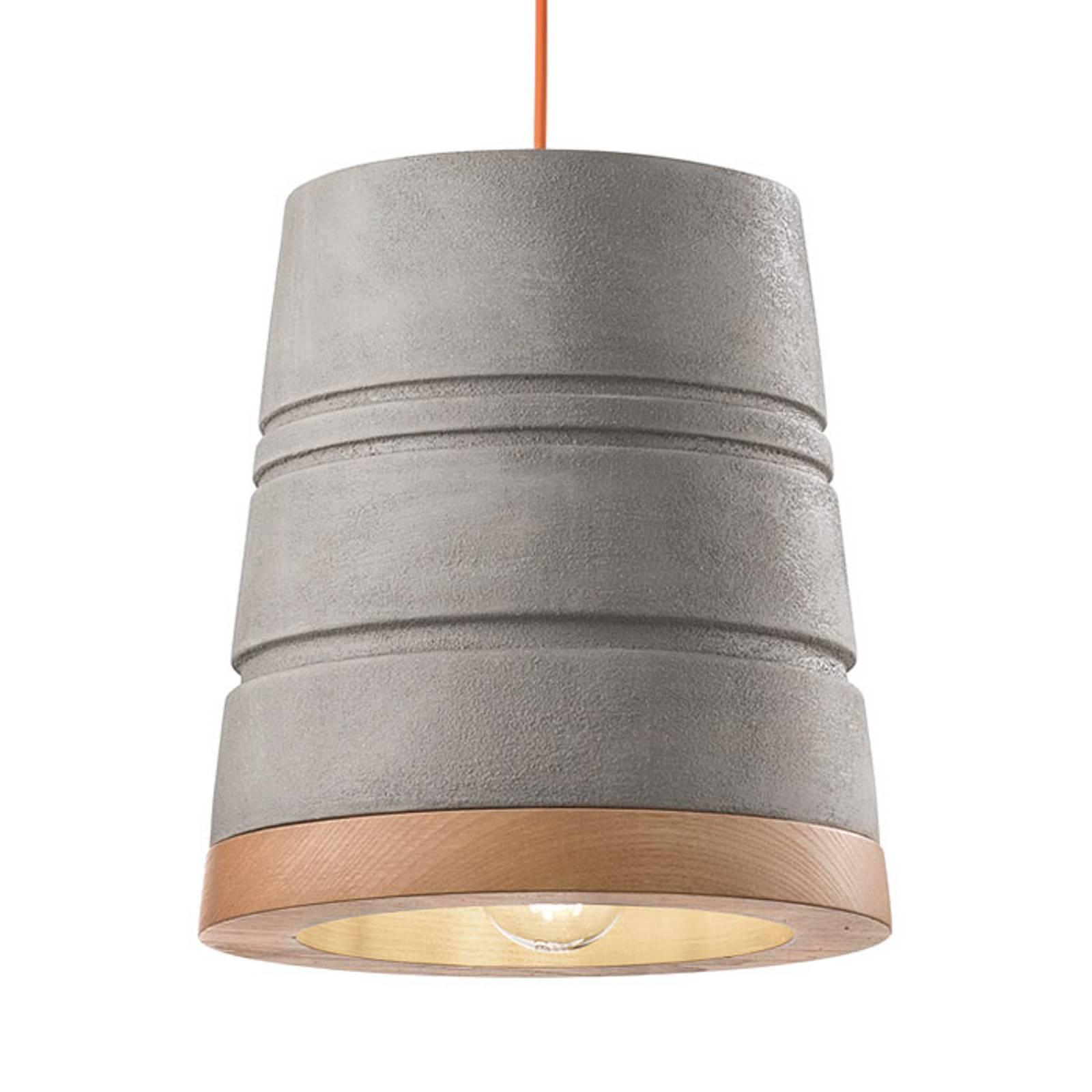 Scandinavische keramieken hanglamp C1786 cement