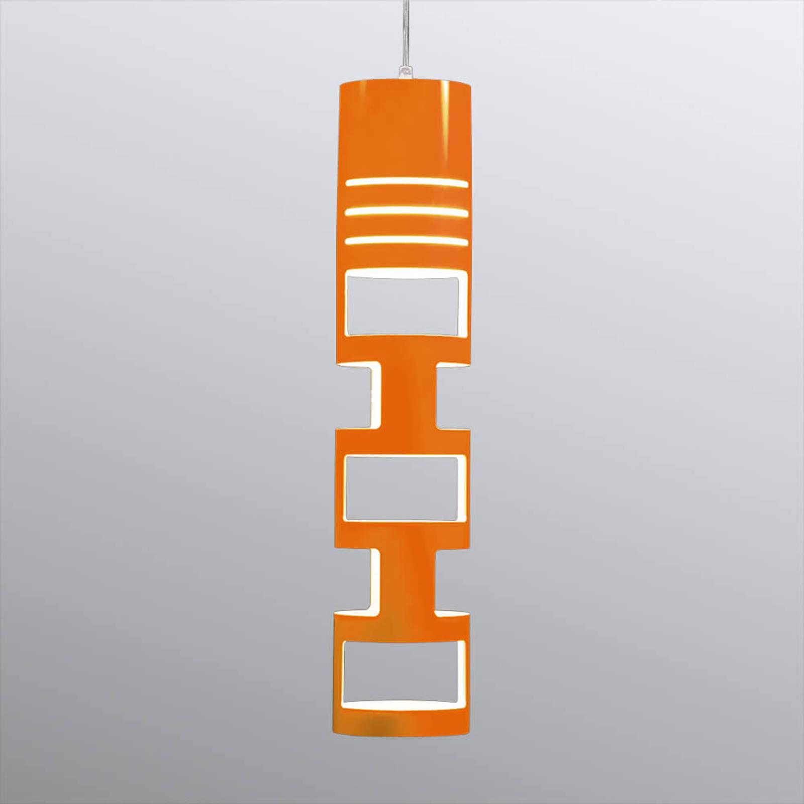 Prachtige hanglamp Sama, oranje