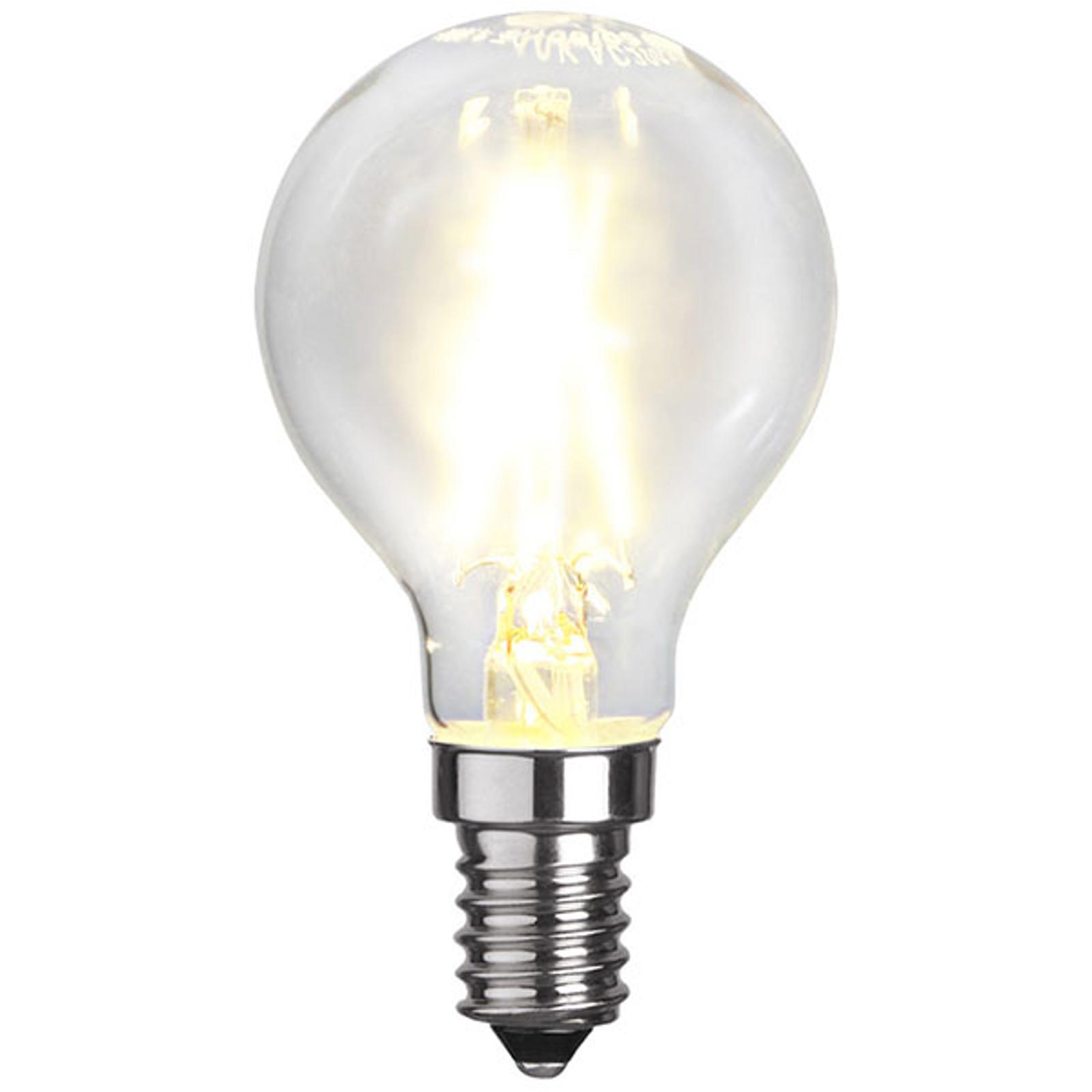 LED-Tropfenlampe E14 P45 1,5W 2.700K Filament