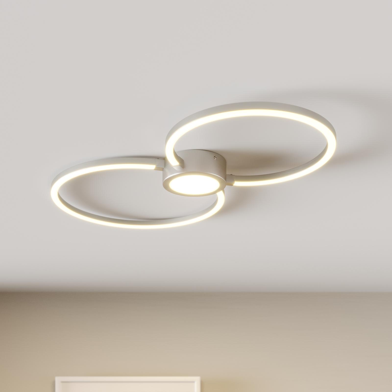 LED-taklampe Duetto, sirkler