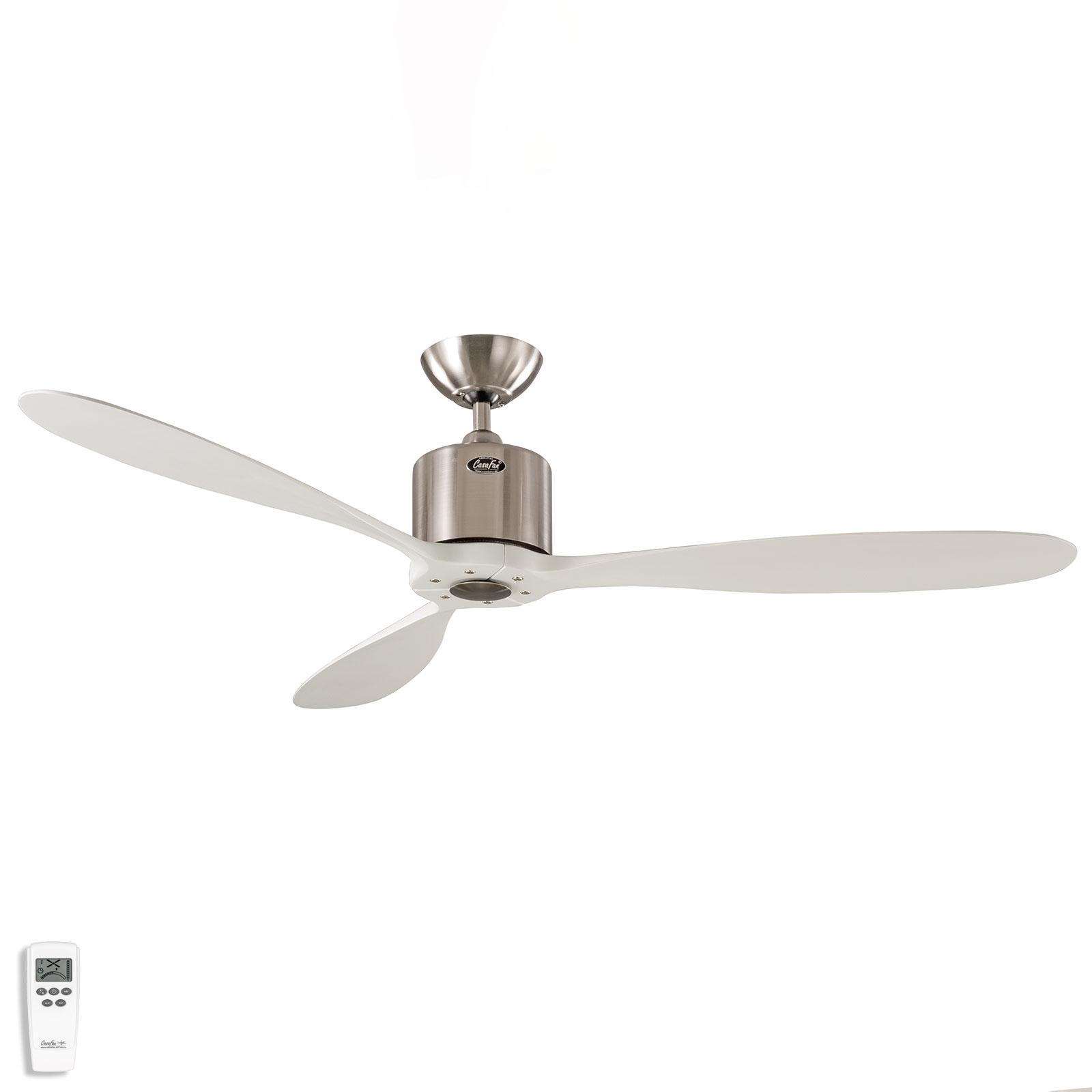 Ventilateur de plafond Aeroplan Eco, chromé, blanc