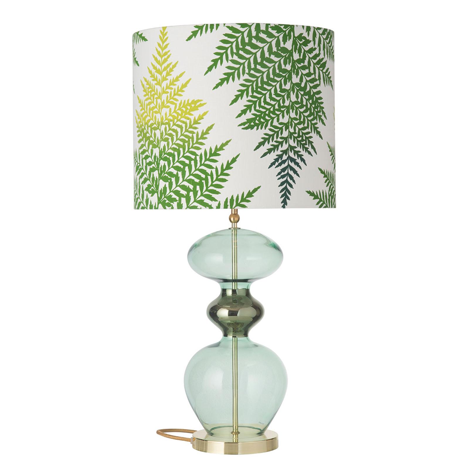 EBB & FLOW Futura bordlampe, Fern Leaves grønn