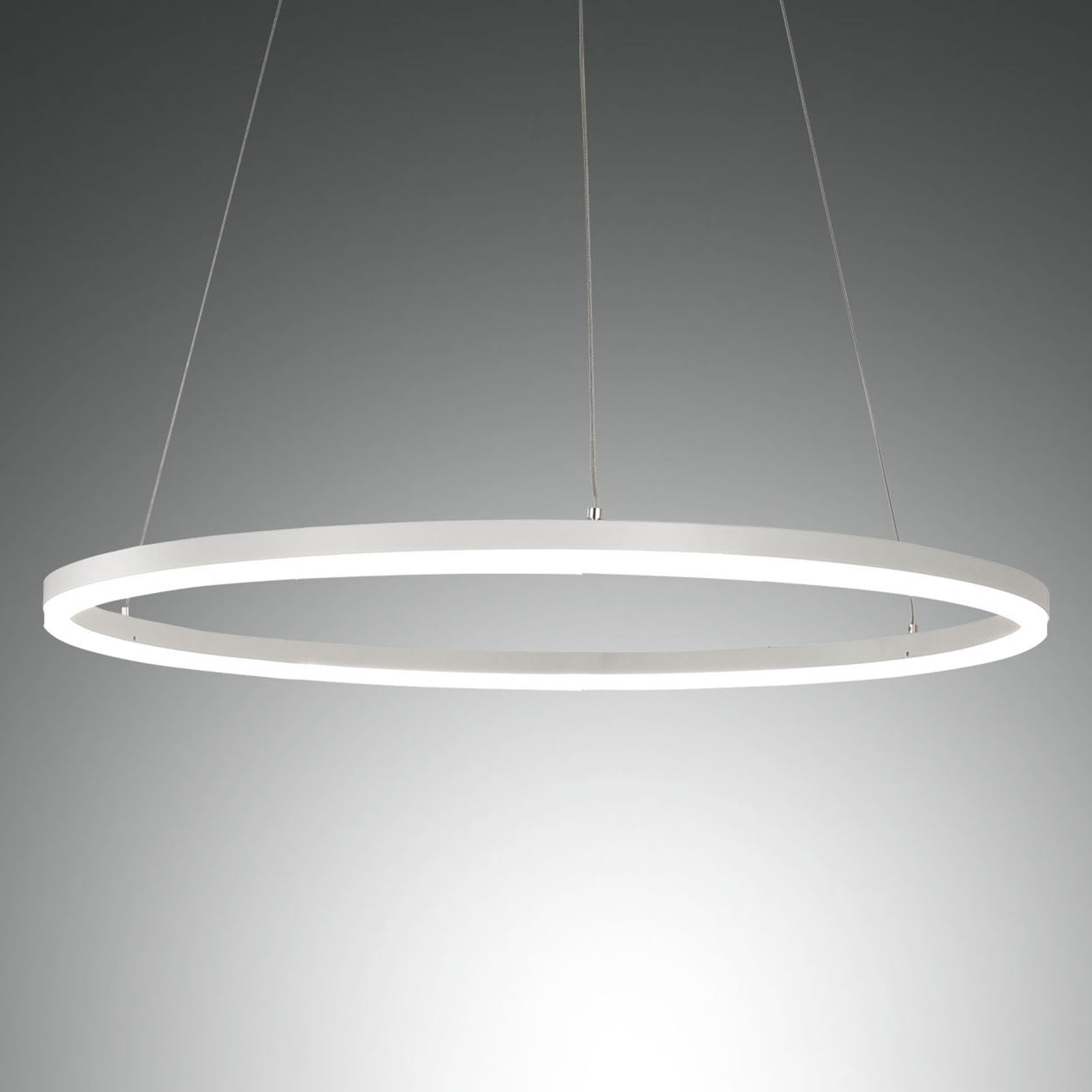 LED hanglamp Giotto, 1-lamp, wit