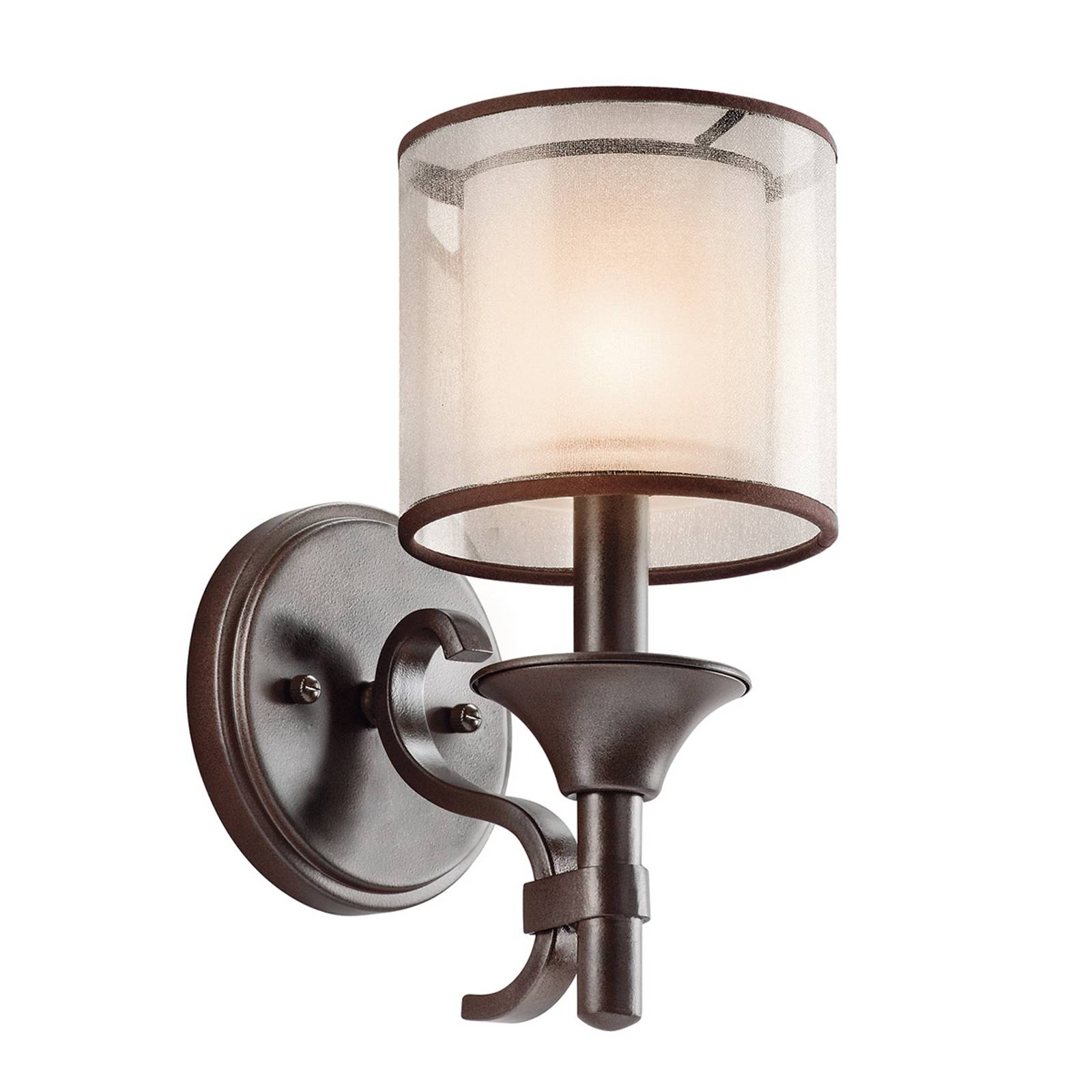 Wandlamp Lacey met dubbele kap