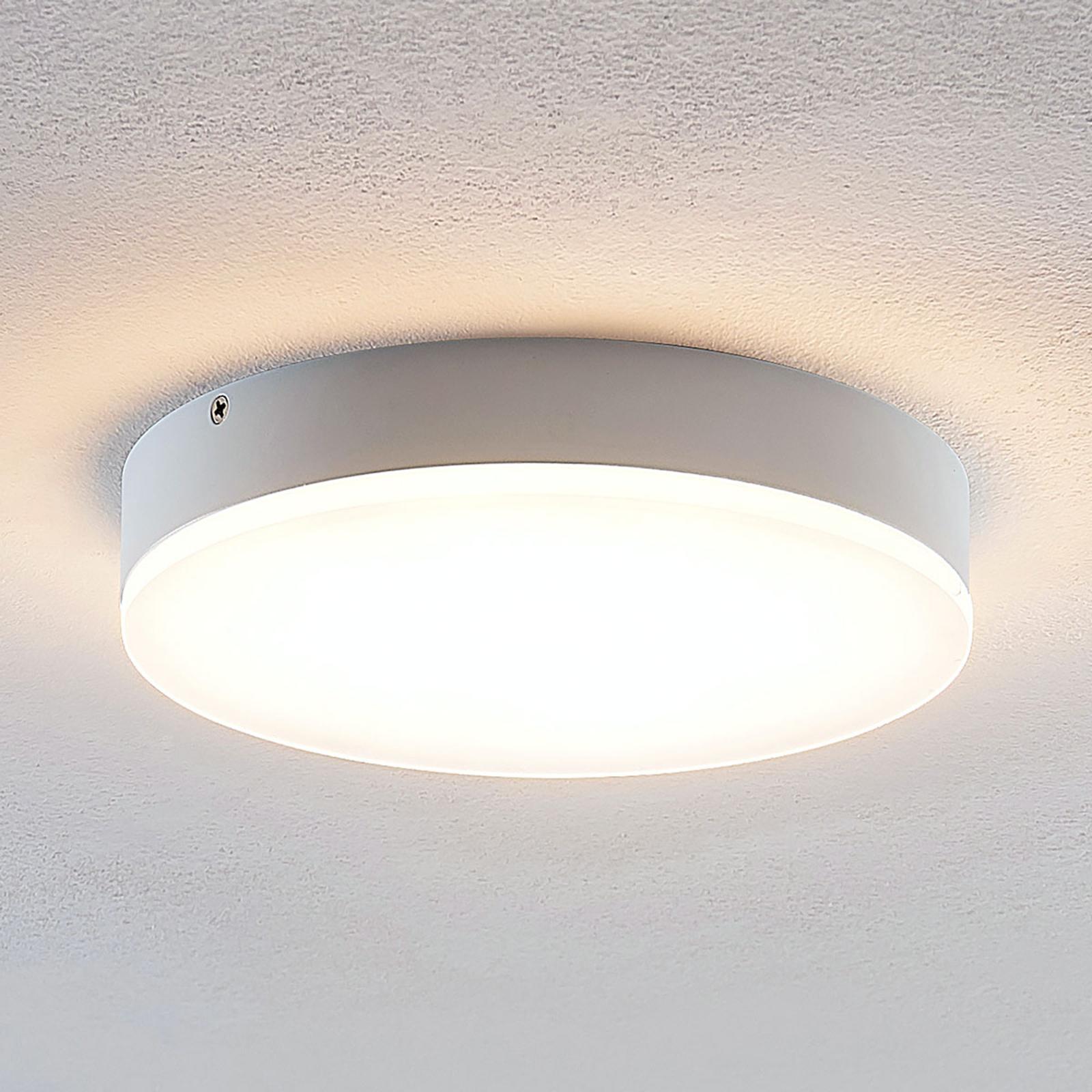 Lindby Leonta LED plafondlamp, wit, Ø 20 cm