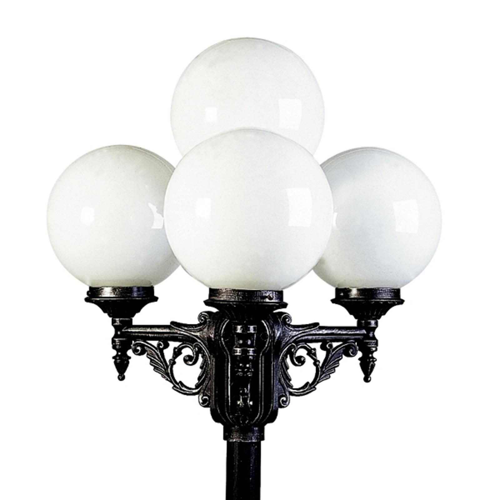 Ravissant chandelier noir argenté 165 à 4 lampes