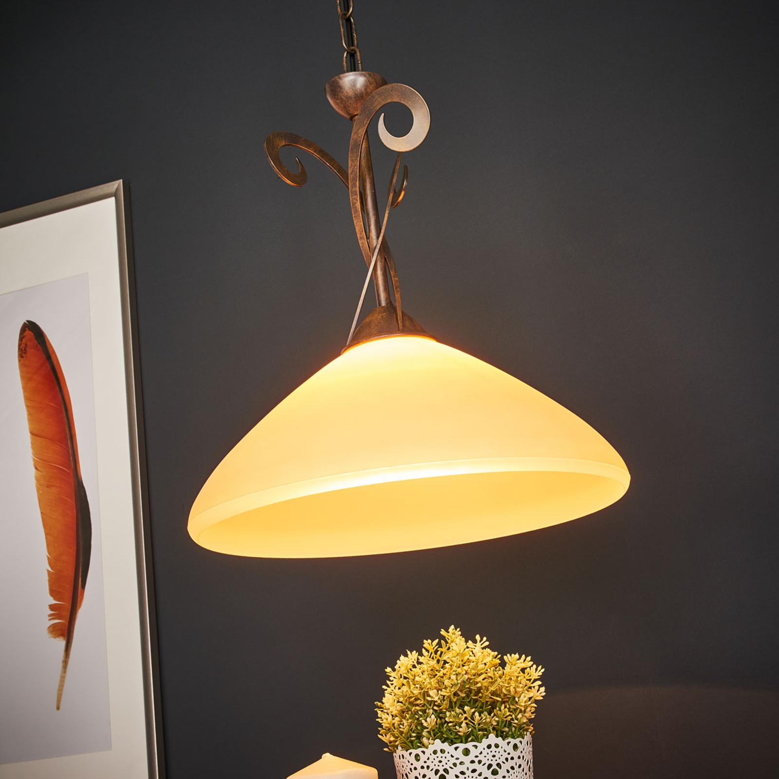 2-punktowa lampa wisząca Luca w stylu dworkowym