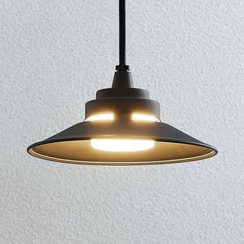 Lámpara colgante exterior LED Cassia, gris oscuro