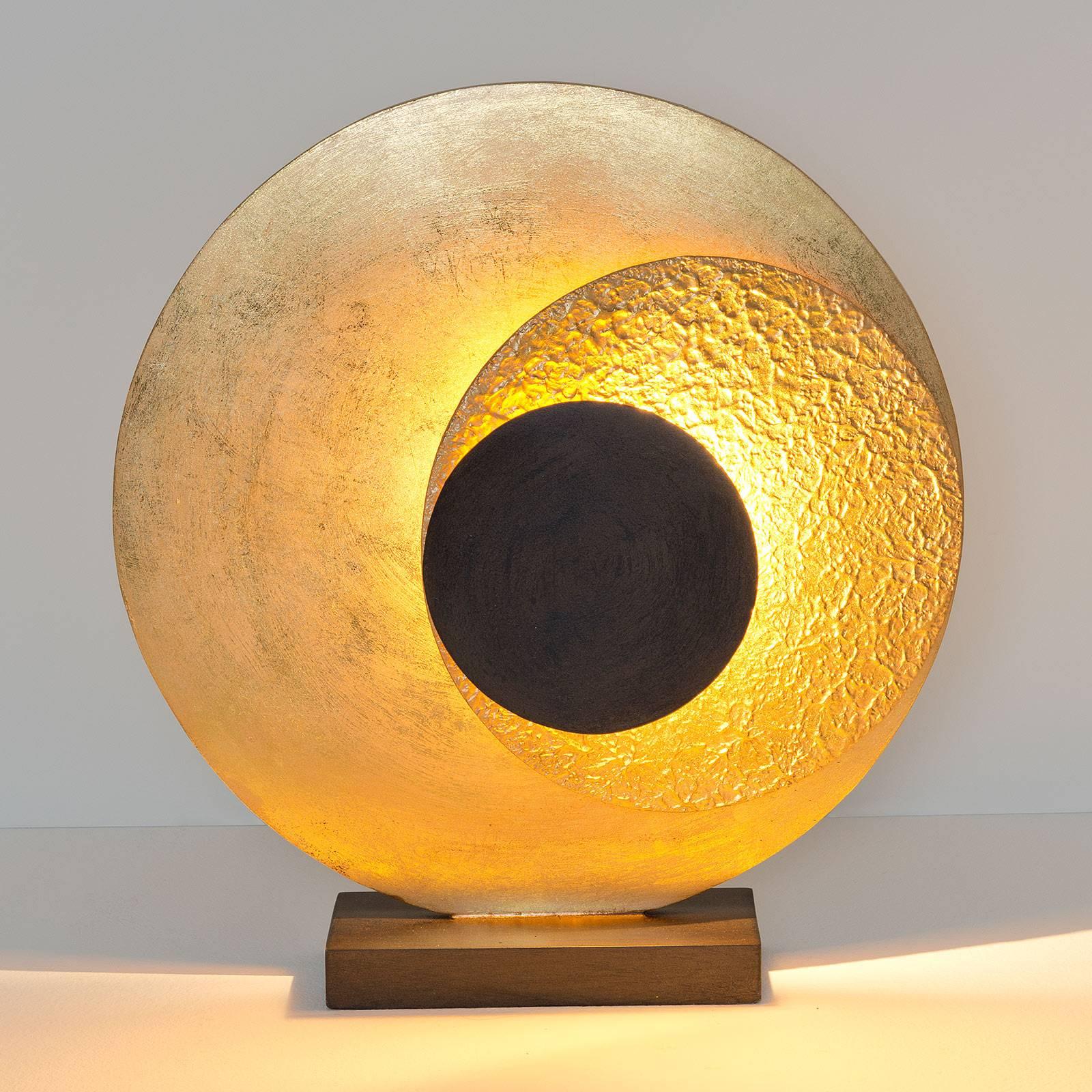 LED-Tischleuchte La Bocca, Höhe 43 cm, gold-braun