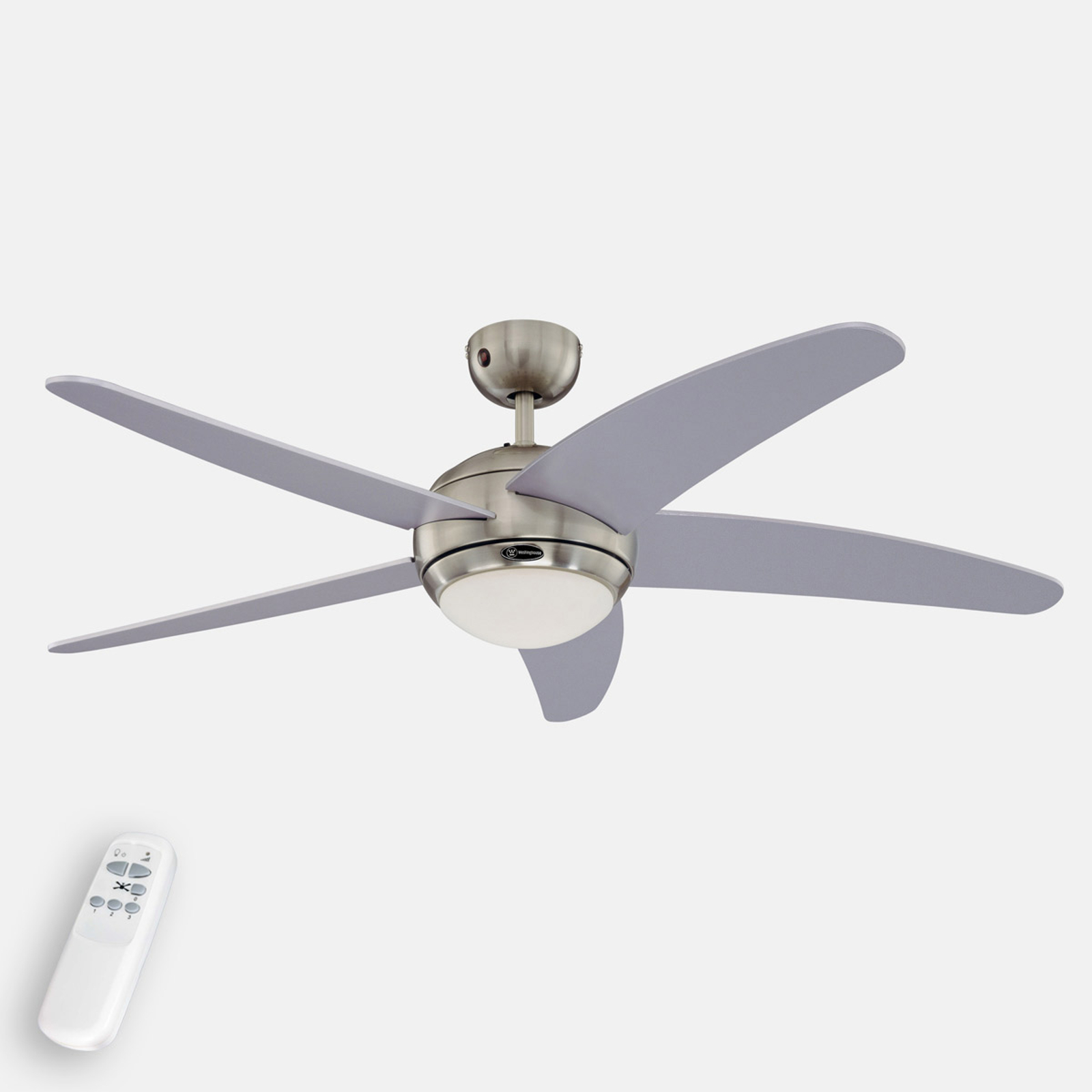 Ventilateur de plafond lumineux Bendan argenté