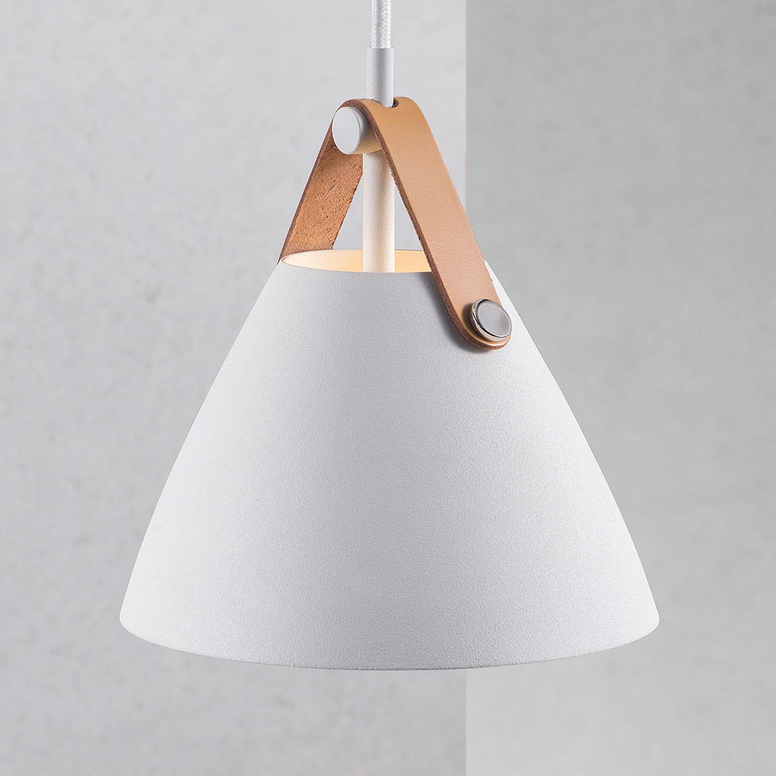 Lampa wisząca Strap, Ø 16,5 cm, biała