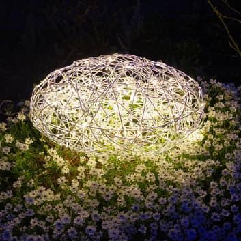 LED-3D-Design-Stein Galax, silber