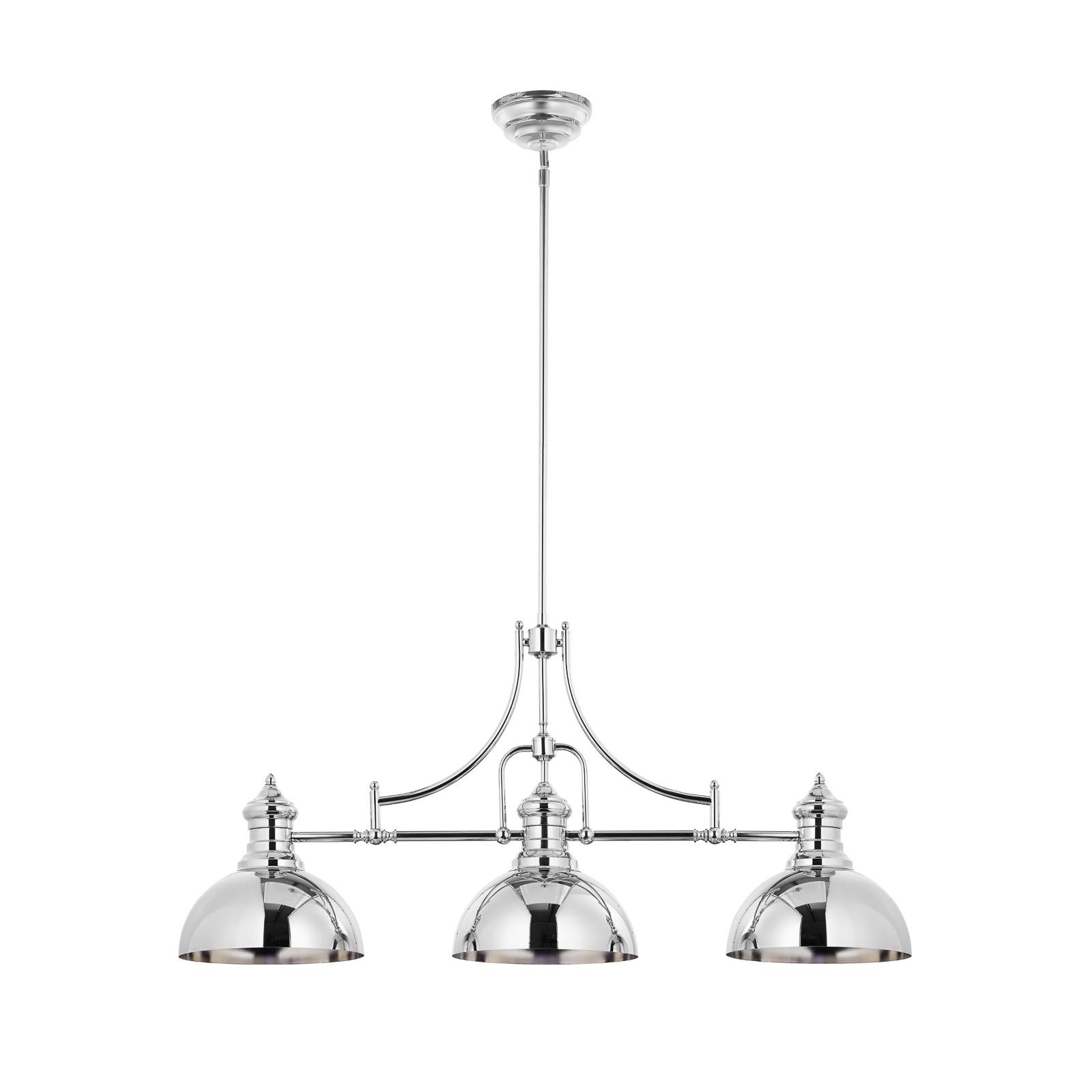 Hanglamp Times in nikkelafwerking, 3-lamps