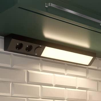 Arcchio Ovano -LED-kaapinalusvalaisin, musta
