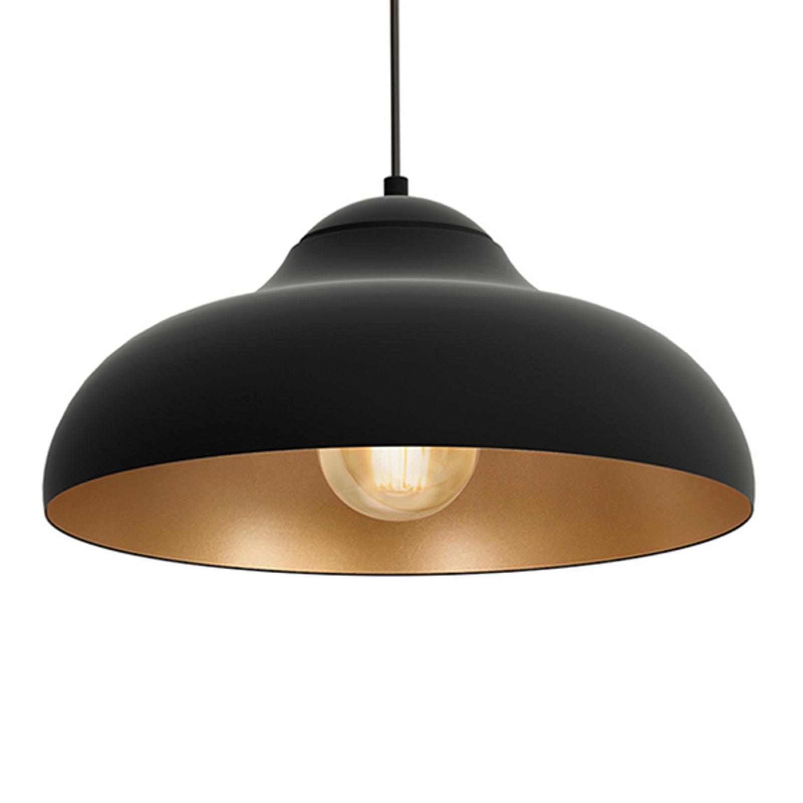 Image of: Basca Hanging Light Black Outside Copper Inside Lights Co Uk