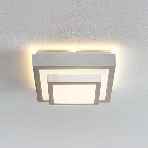 Lindby Mirco lámpara de techo LED, angular, 27 cm
