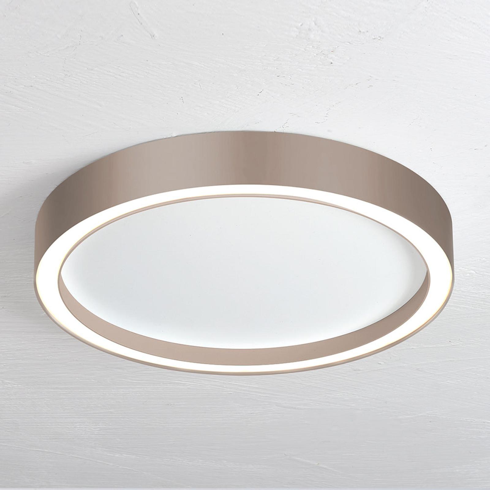 Bopp Aura LED plafondlamp Ø 30cm wit/taupe
