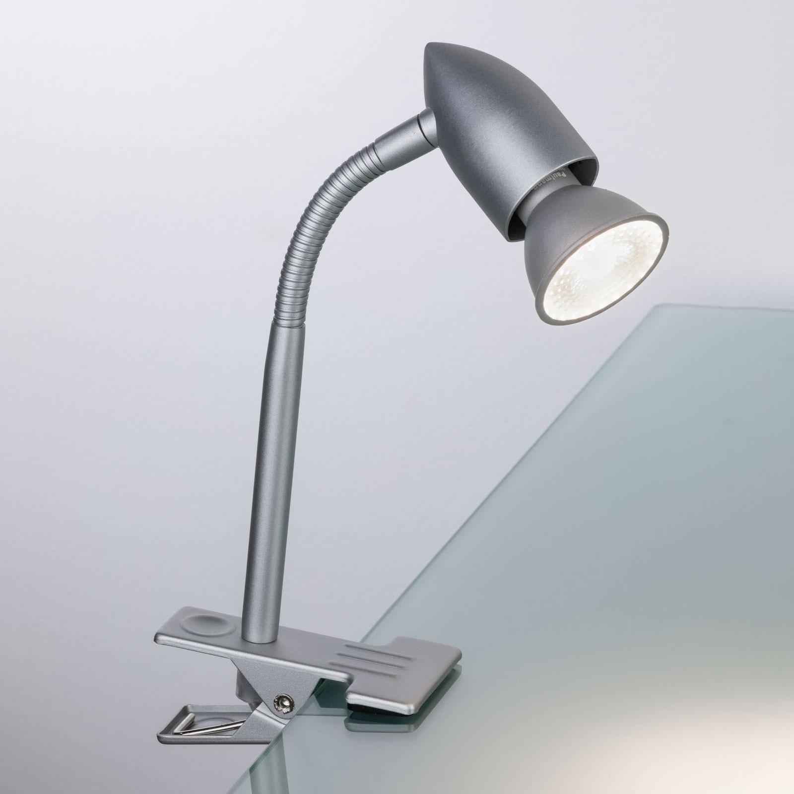 Paulmann Gesa lampada a pinza, cromo satinato