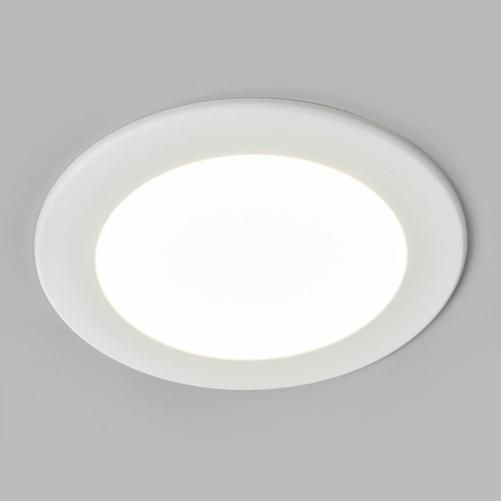 LED-innfelt spot Joki, hvit, 4000K rund 17cm