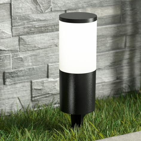 Lampada LED con picchetto Amelia, nera