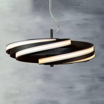 LED-Hängeleuchte Zoya in mattem Schwarz