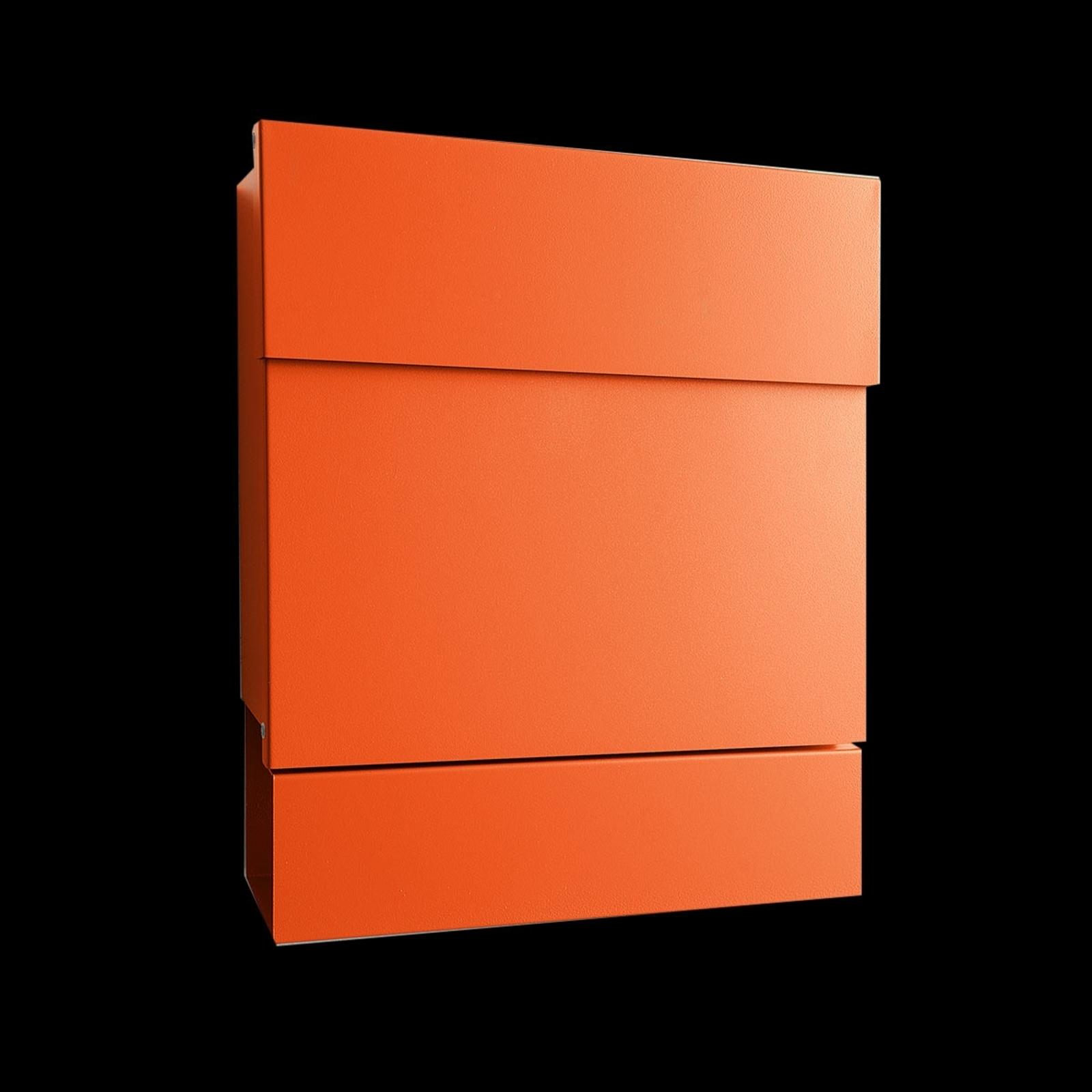 Romslig postkasse Letterman V, avisholder, oransje