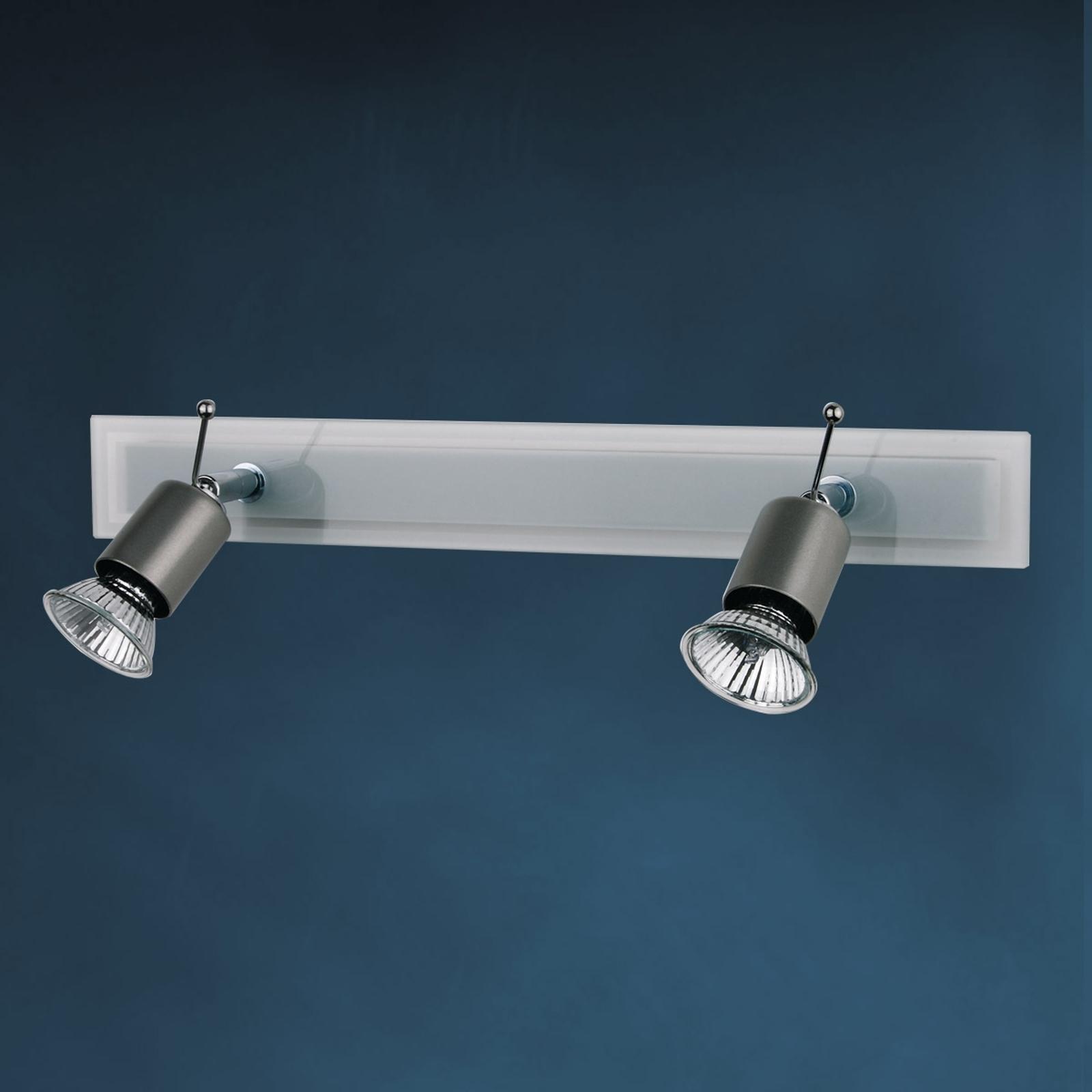 Plafondlamp SARA met glasplaat 2-lichts