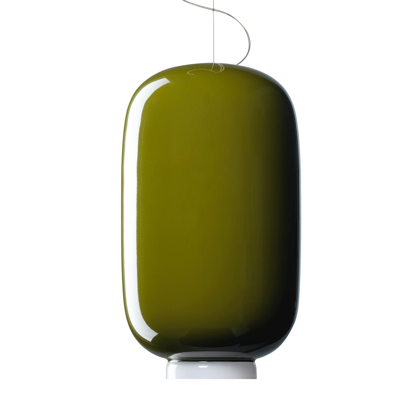 Foscarini Chouchin 2 sospensione LED, verde