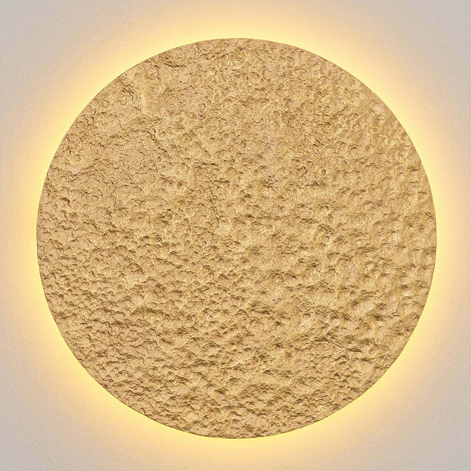 Applique LED dorée Meteor, Ø 55 cm