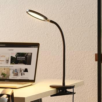 Lindby Binera LED-klemmelampe med dæmperfunktion