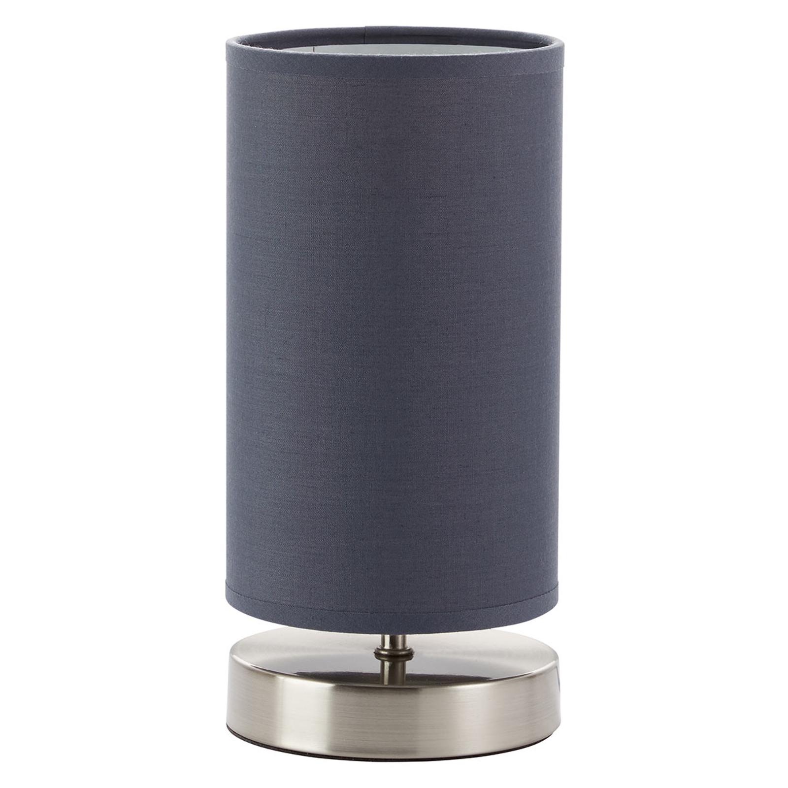 Lampe à poser Clarie avec abat-jour tissu gris