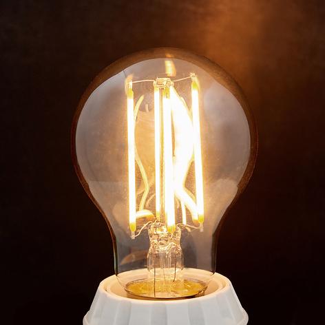 Ampoule LED E27 filament 6W, 500lm, ambre, 2200K