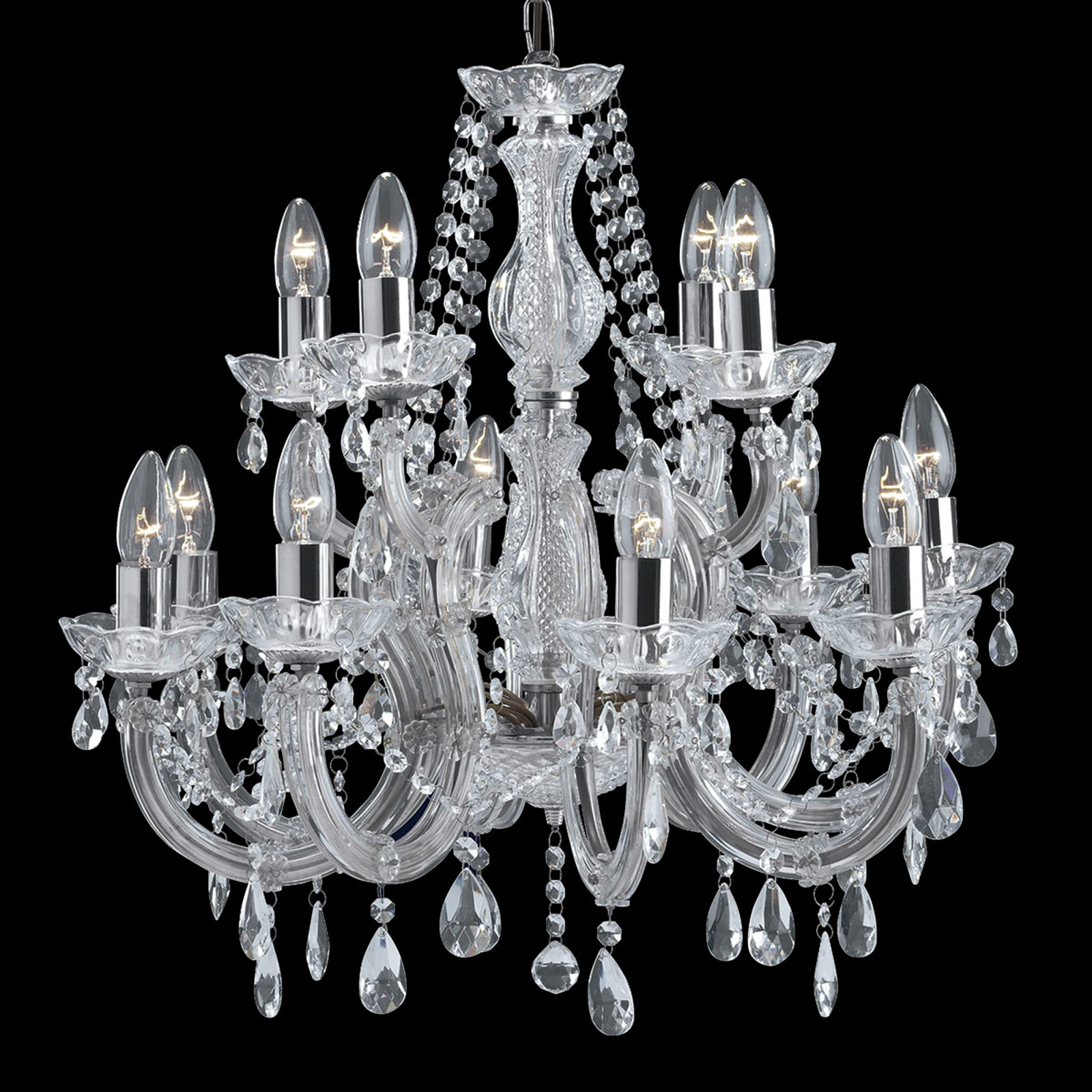 Lampadario classico MARIE THERESE, 12 luci cromo