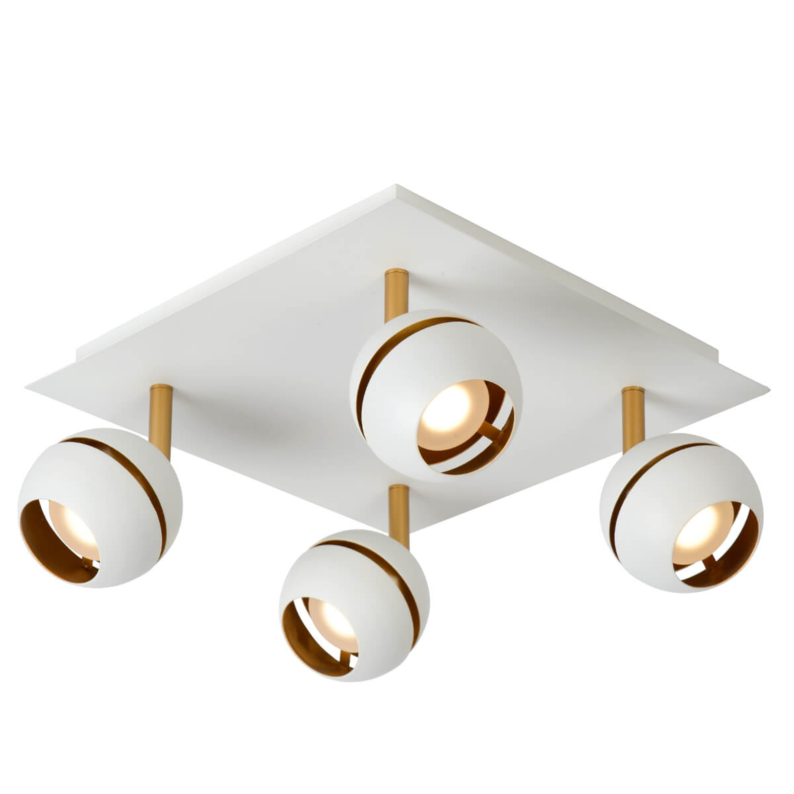 LED-loftslampen Binari i hvid, 4 lyskilder