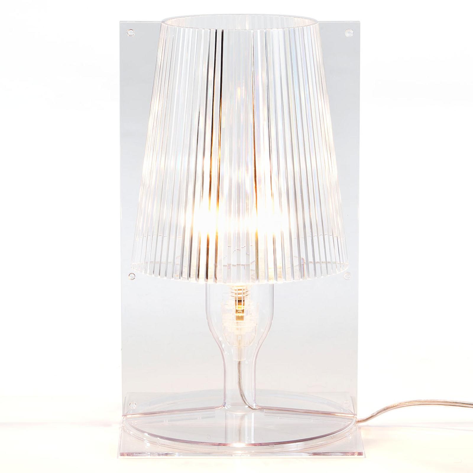 Kartell Take tafellamp, transparant