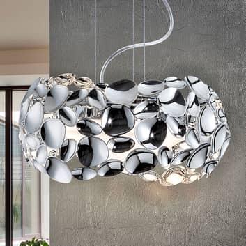 Narisa LED-hængelampe, Ø 32 cm, krom