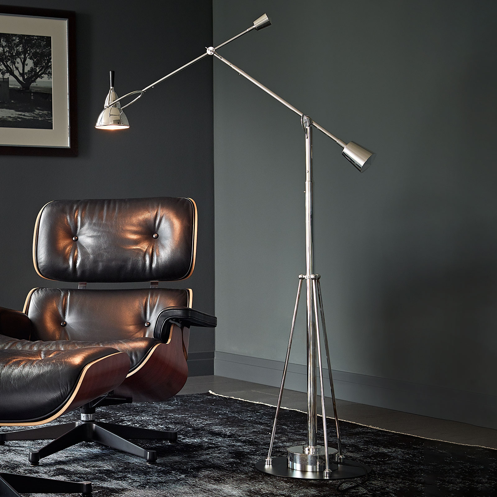TECNOLUMEN Buquet lampadaire, argenté