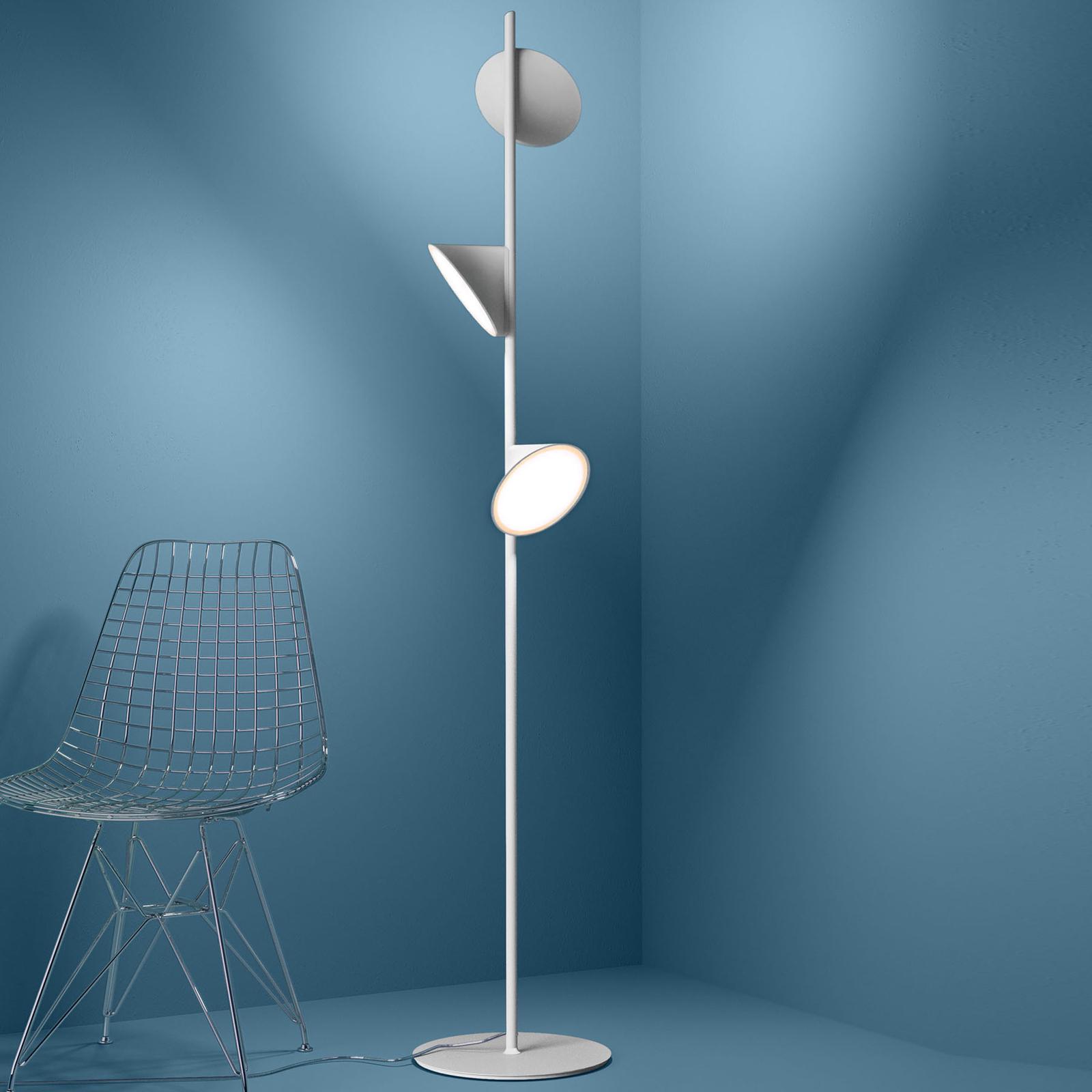 Axolight Orchid LED-gulvlampe, hvid