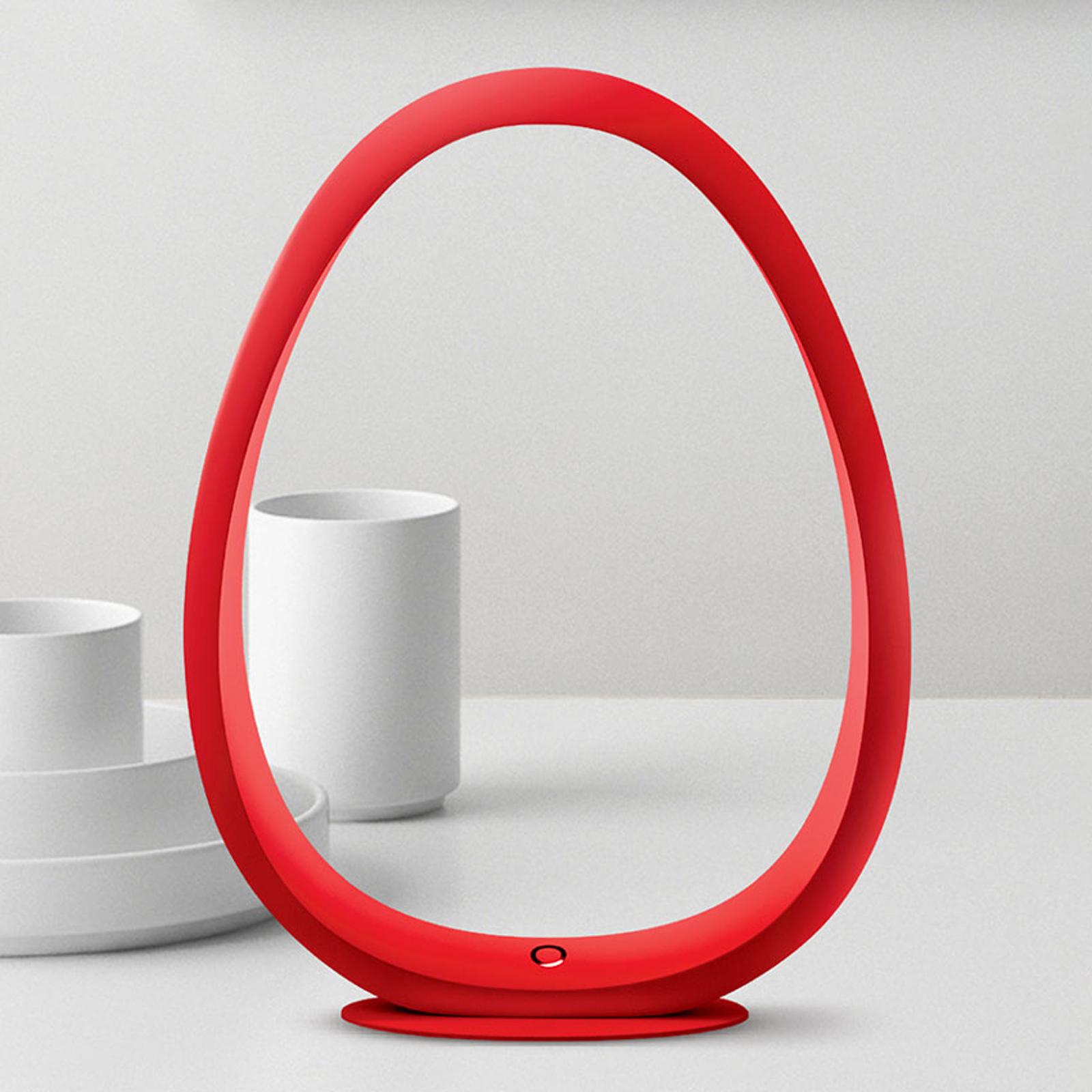 TRAE Umi LED-Tischleuchte 5.000 K rot