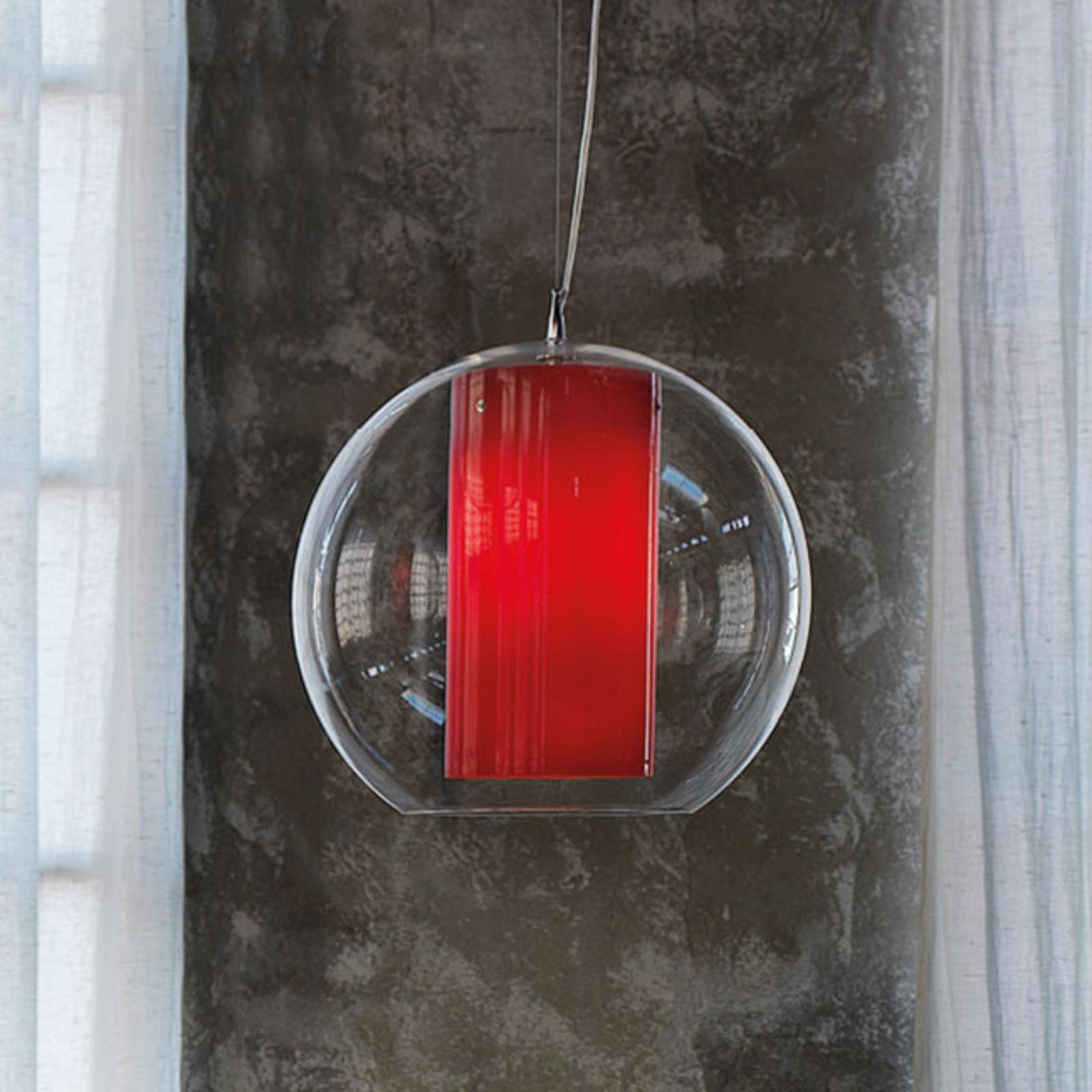 Modo Luce Bolla hængelampe i plast, rød Ø 40 cm