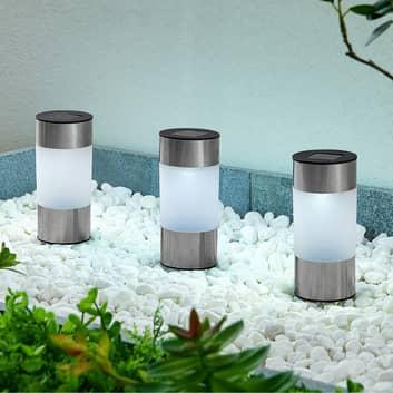 Lindby Jocob -LED-aurinkolamppu, maapiikki, 3 kpl