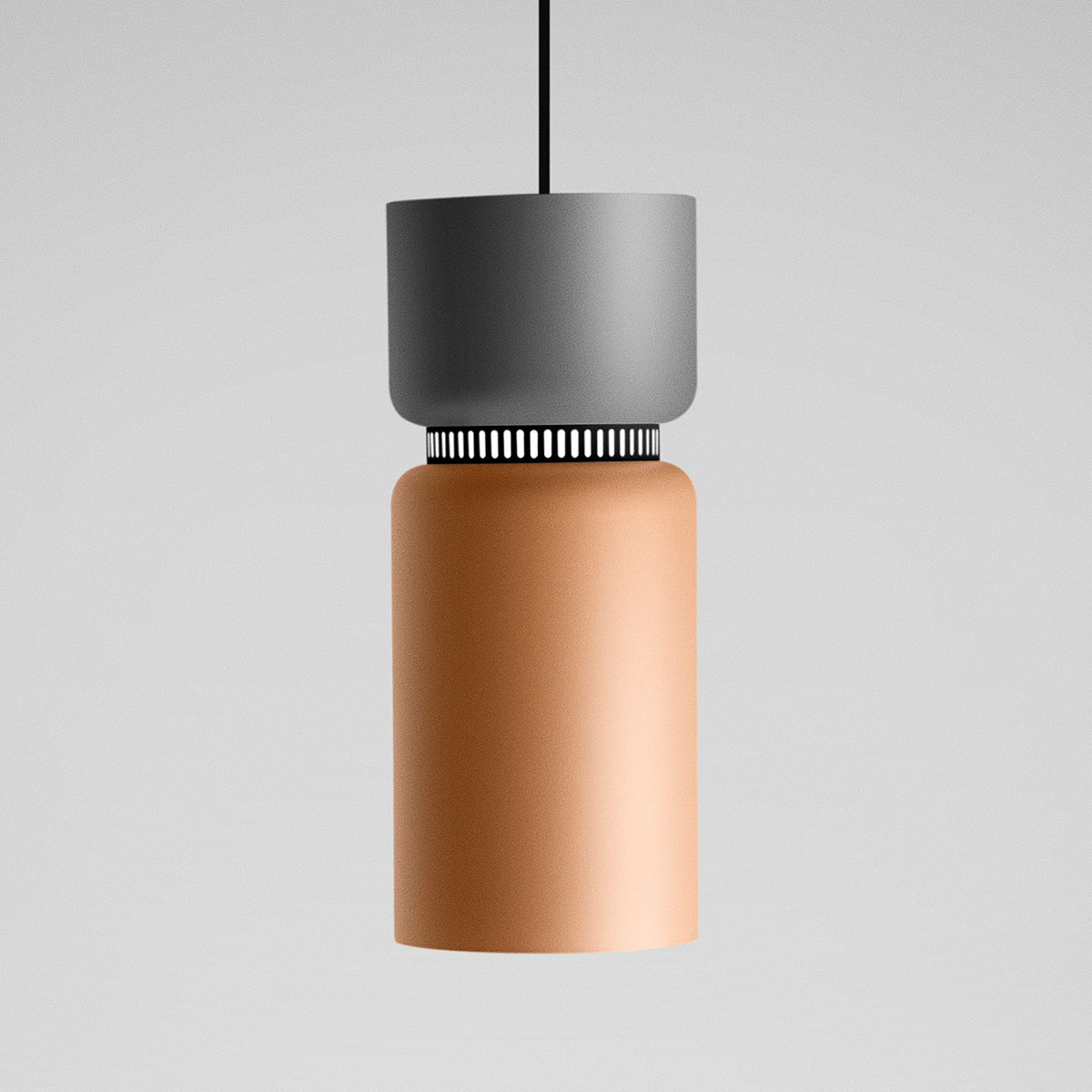 Suspension LED Aspen gris-mangue 17 cm