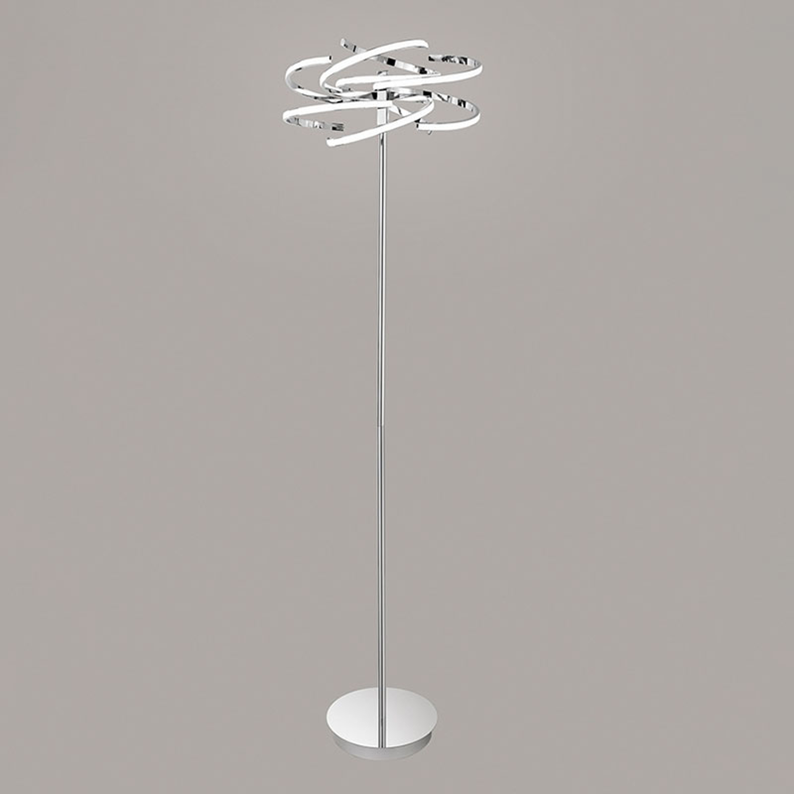 Lampadaire LED 6399 chromé