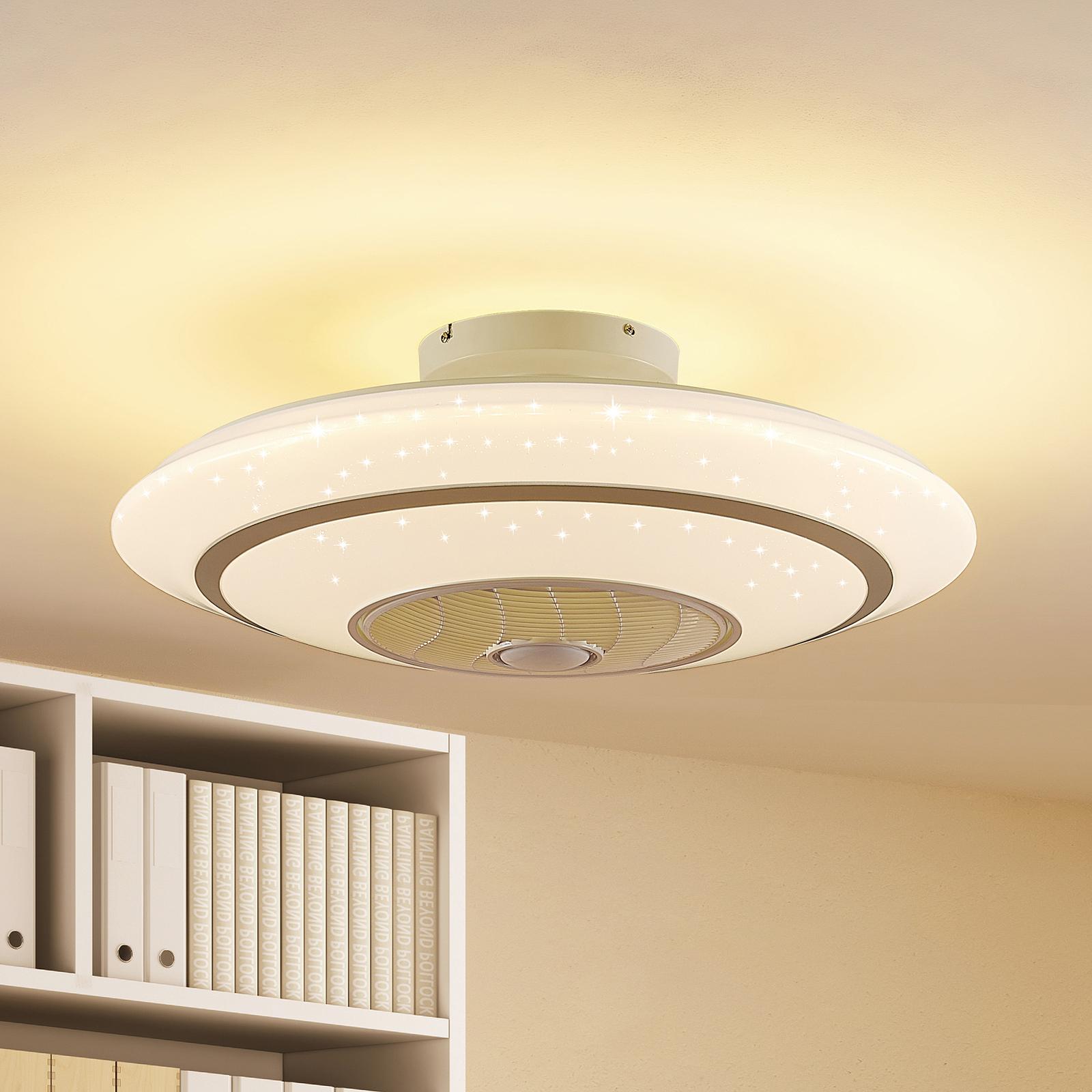 Lindby Kheira LED stropní ventilátor, 55 W