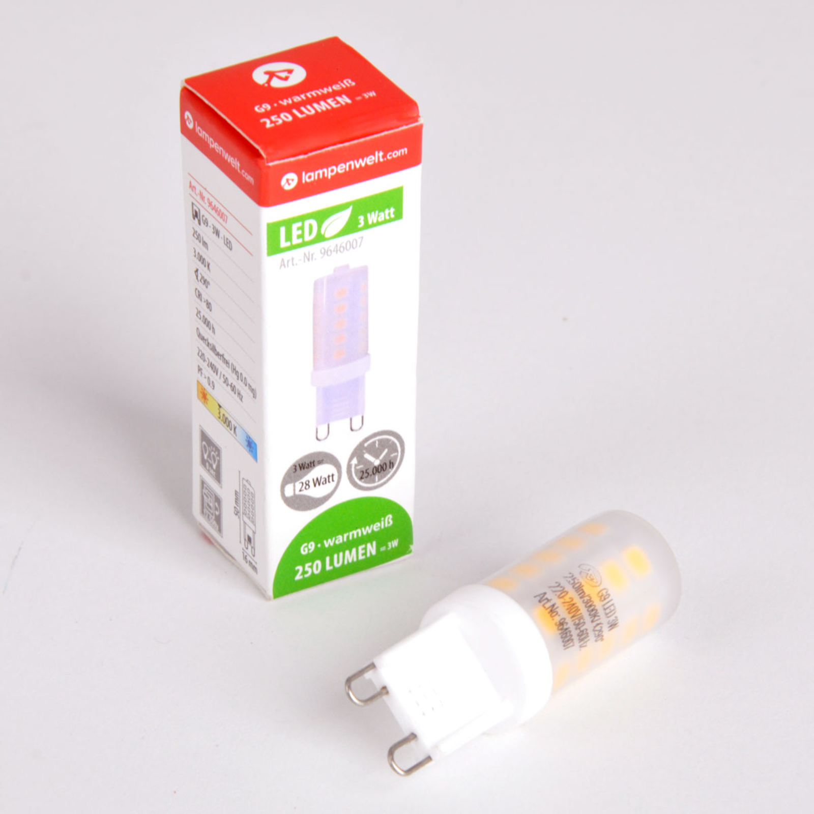G9 3W 830 LED-stiftpære dæmpbar