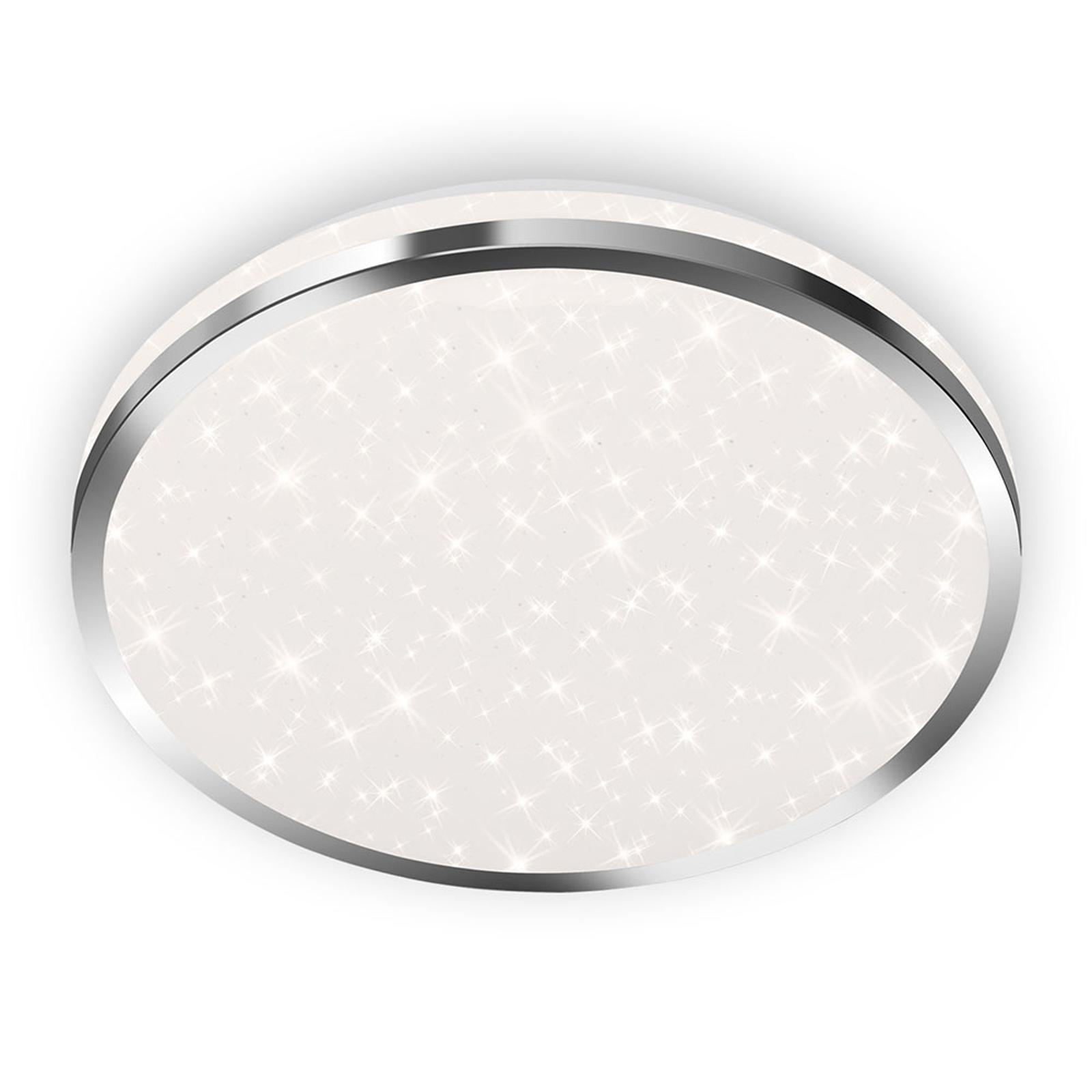 LED-taklampe 3403 IP44 stjernedekor, Ø 28 cm
